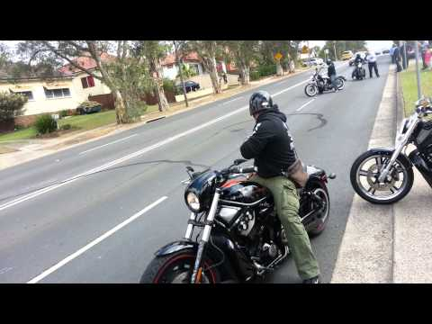 Harley Davidson burnouts after cousins wedding