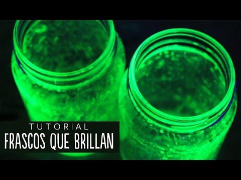 Cómo hacer frascos que brillan fácil #RetoALiz