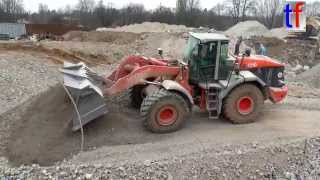 Hitachi ZW310 Wheel Loader Action, Fa. F&R, Weinstadt, Germany, 19.02.2015.