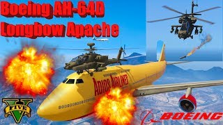 GTA V: New Updated Boeing AH-64D Longbow Apache Helicopter Best Longer Crash Compilation