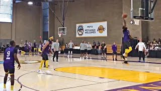 Lakers Have Shootaround To Prepare For First Preseason Game vs Nuggets