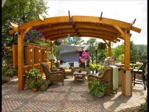 Pergolas y cenadores en dise o de jardines hd 3d arte y - Modelos de pergolas ...