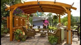 Pergolas y Cenadores en Diseño de Jardines. HD-3D. Arte y Jardinería Diseño de Jardines.