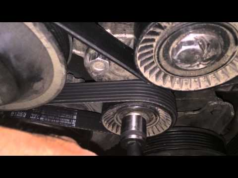 How To Replace Serpentine    Belt    On A    BMW    320d 2010  E90  HD