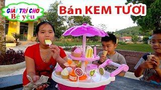 TRÒ CHƠI BÁN KEM TƯƠI | Permainan menjual es krim segar 💚 Giải trí cho Bé yêu