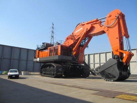 世界最大級の油圧ショベル日立建機EX8000(2012.10.21)