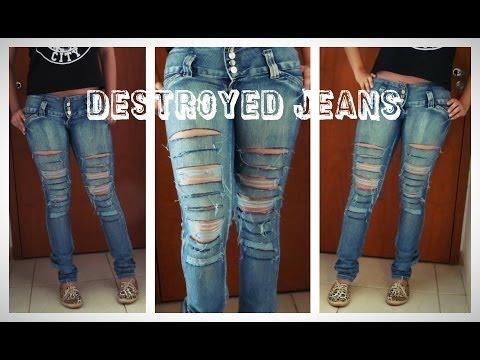 Tutorial: Como rasgar seu jeans Destroyed Jeans