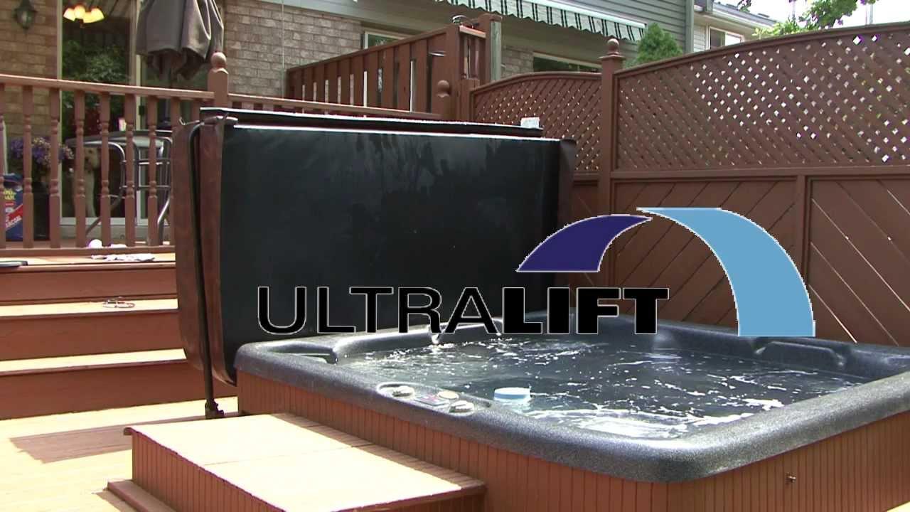 ultralift hot tub cover lifter youtube. Black Bedroom Furniture Sets. Home Design Ideas