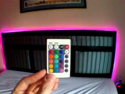 Custom Upholsterd And Woodgrain Led Headboard Youtube