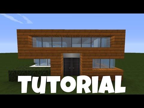 15:47 Minecraft Kleines Haus   Holz/ Quarz Bauen   Tutorial/Anleitung 2016  [deutsch]