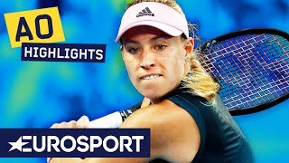 Angelique Kerber vs Beatriz Haddad Maia Highlights | Australian Open 2019 Round 2 | Eurosport