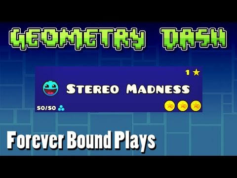 Forever Bound Plays Stereo Madness | Geometry Dash + Q&A