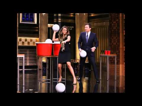 Nina Dobrev Wants to 'Get a Steady Boyfriend,' Plays Giant Beer Pong With Jimmy Fallon—Watch Now