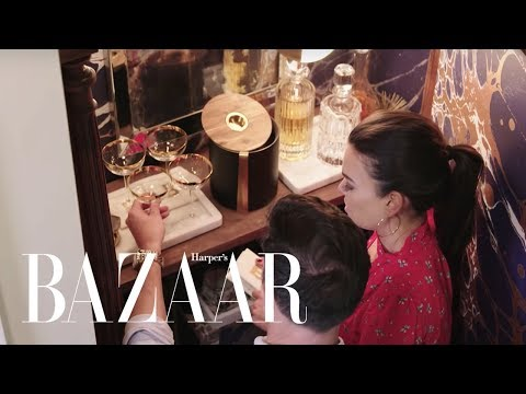Transforming An Antique Armoire Into a Bar | Design Girlfriend | Harper's BAZAAR