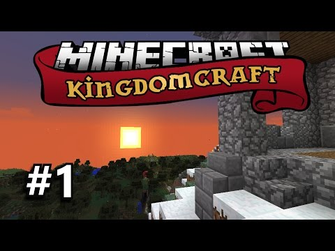 Minecraft Kingdomcraft SMP (Vanilla) #1- Library Construction