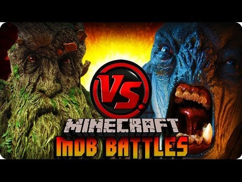 Minecraft Mod - ENT VS CAVE TROLL ! Mob Battle (LORD OF THE RINGS MOD)