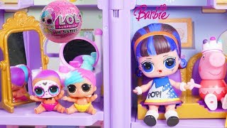 LOL Surprise Doll Play Video Visit Peppa Pig Bling Dollhouse !