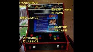 Pandoras box 5 - every game shown - 960 games - bartop arcade