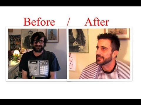 Man Makeover : How to cut hair Trim your Beard with clippers scissors trimmer Me