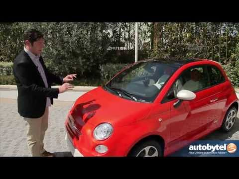 2013 FIAT 500e Test Drive &amp; Electric Car Video Review