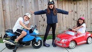 Kids Power Wheels Ride on Car Police Pretend Play