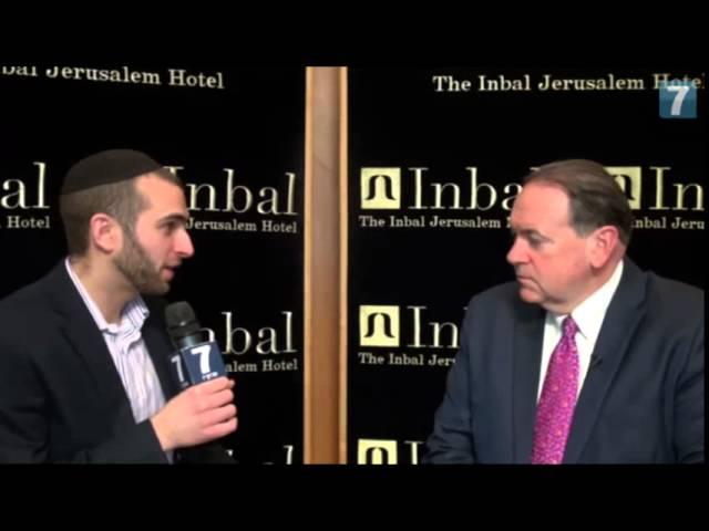 Arutz Sheva's Ari Soffer speaks to Governor Mike Huckabee