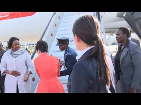 Park Geun-Hye, President of The Republic of S. Korea arrives in Kenya