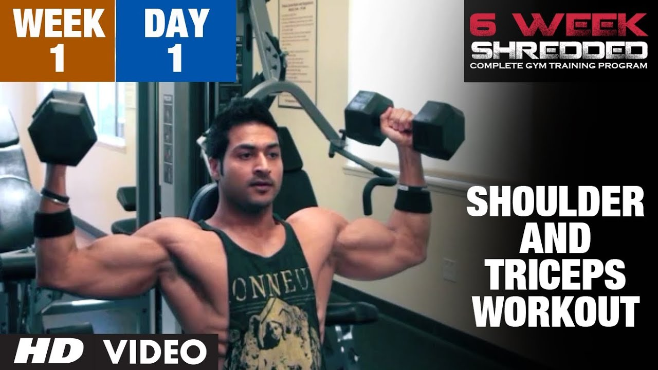 Workout Calendar By Guru Mann : Week day shoulder triceps and upper abs workout