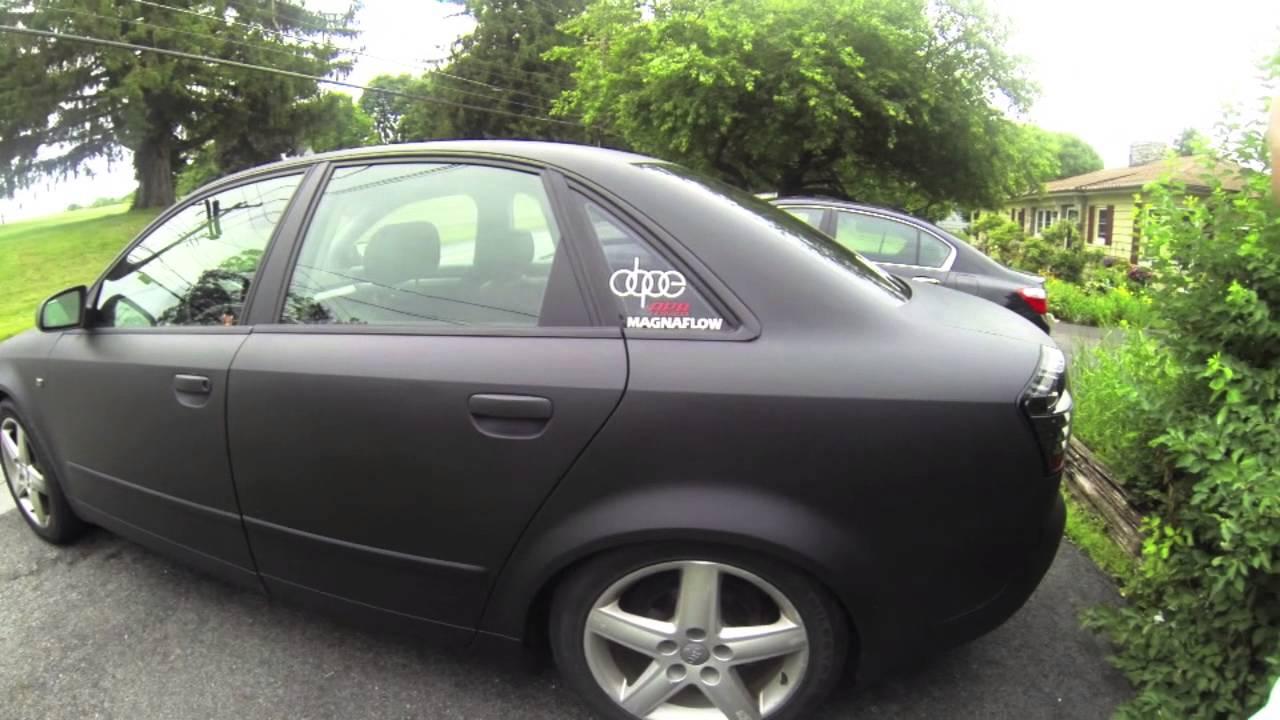GO Pro Matte Black Audi A4 - 720p - YouTube