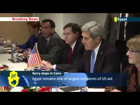 John Kerry in Cairo: Top US diplomat makes first trip to Cairo since Egyptian army ousted Morsi