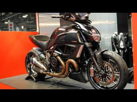 2012 Ducati Diavel Carbon Walk Around Sport Touring Naked Bike. SEXY Girls Models. Motorcycle VLOG
