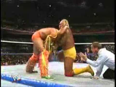 The Ultimate Warrior vs. Hulk Hogan - Highlights - WrestleMania 6