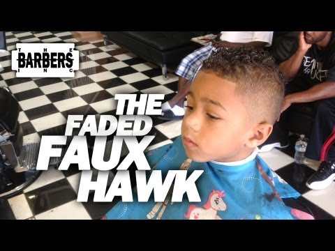 HOW TO: Kid's Faded Faux Hawk / Mohawk | Men's Haircut Tutorial | HD 1080 p
