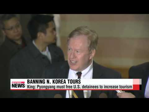 King: Pyongyang must free U.S. detainees to increase tourism   킹 특사