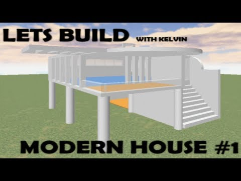 Roblox lets build modern house 1 youtube for Build a modern home for 200k
