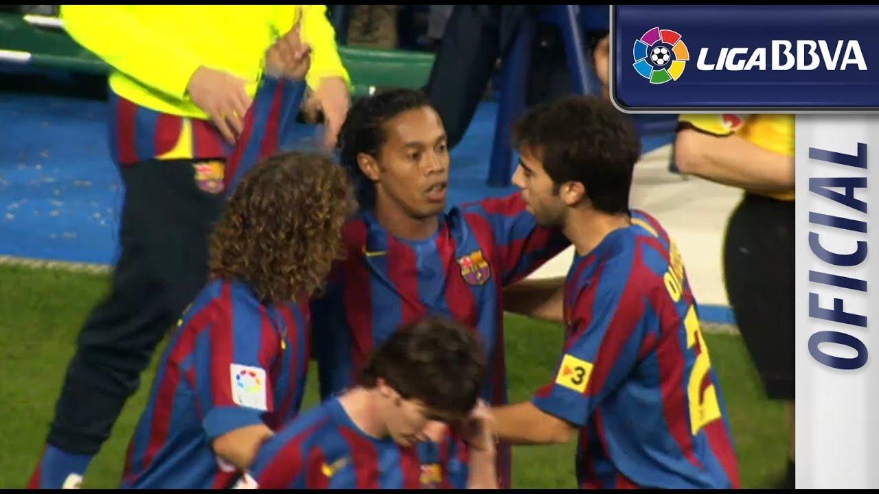 el Barcelona FC de - Real Gol Ronaldinho 2005 Madrid en