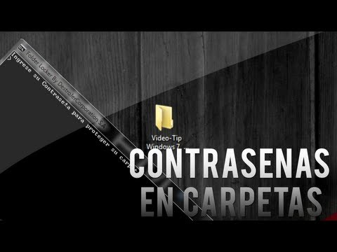 Como poner contraseña o password a tu carpetas en Windows 7, Vista y xp Sin Programas //  Tutorial