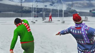 CHRISTMAS SNOW GAMES (GTA 5 Funny Moments)