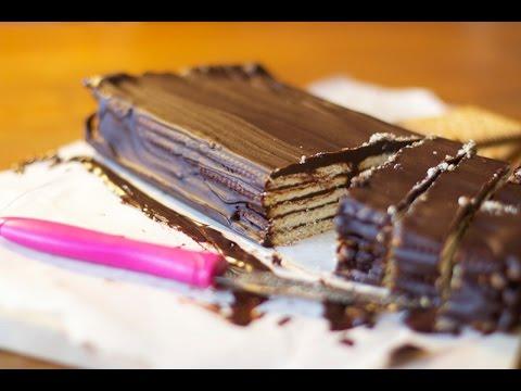 recette g teau petit beurre chocolat sans cuisson youtube. Black Bedroom Furniture Sets. Home Design Ideas