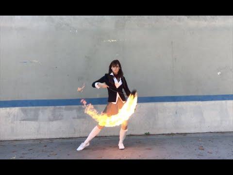 Kill Bill Fire Rope Dart Choreography