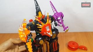 Lắp ráp Robot siêu nhân khủng long dinosaur power ranger megazord toy for kids bootleg