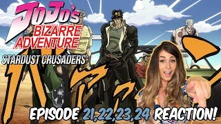 JoJo's Bizarre Adventure: STARDUST CRUSADERS Episode 21, 22, 23, 24 REACTION!