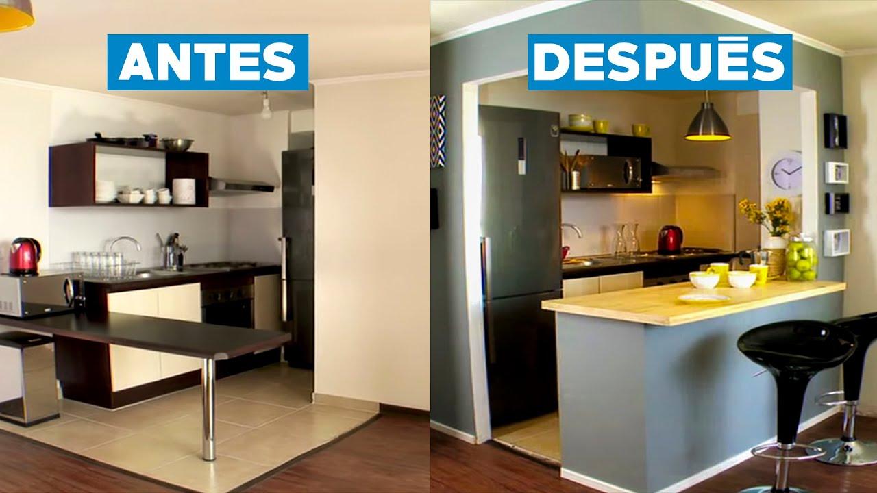 C mo remodelar una cocina americana youtube for Modelos de cocina comedor pequenos