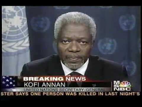 The Iraq Invasion Archive-Day 2-Kofi Annan on MSNBC