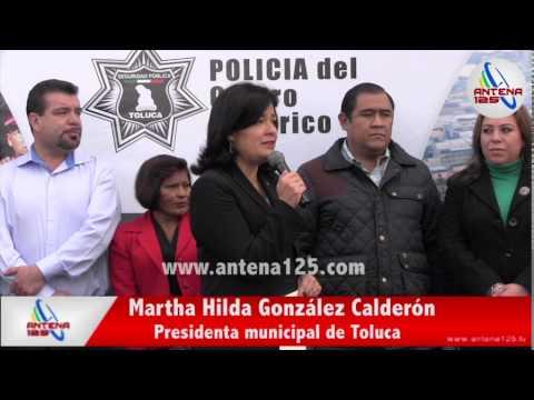 Entrega Toluca policía para centro histórico