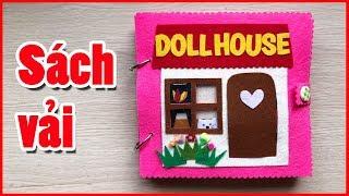 Đồ chơi sách vải ngôi nhà búp bê có phòng ngủ, nhà tắm, bếp, Đồ chơi Chim Xinh Quiet book doll house