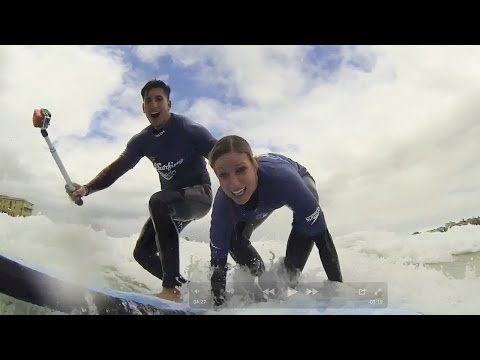 EPIC COUPLE SURFING