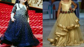 Top beautiful party gown design ideas for little girl/Indian wedding dresses for kids