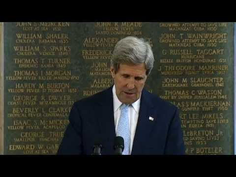 Secretary Kerry Delivers Remarks at the American Foreign Service Memorial Plaque Unveiling Ceremony