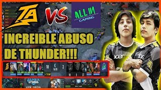 INCREIBLE PALIZA ! THUNDER PREDATOR VS ALL IN GAMING LPG | DOTA 2